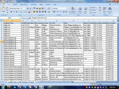 Web Research & Finding Mail Address
