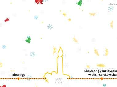 New Year and Christmass Greeting site For MayBank Malaysia