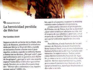 La heroicidad perdida de Héctor