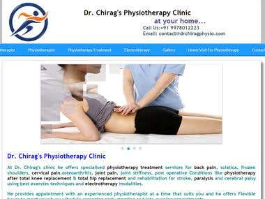 Dr. Chirag physiotherapy website