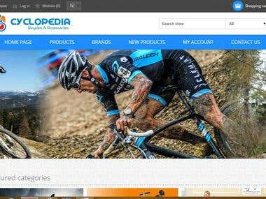 E-Commerce Website for a Bicycle Shop