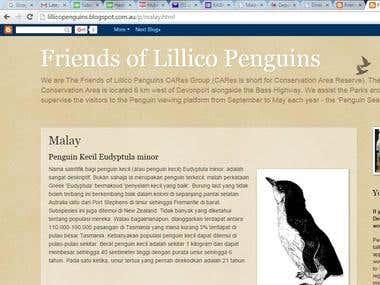 Penguin Brochure Translation