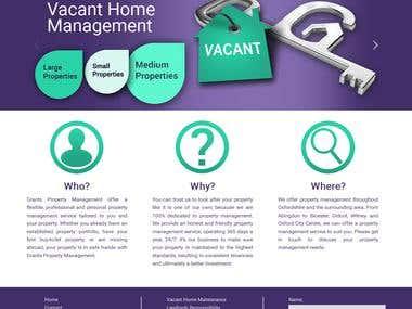 Grand property Management  -  WORDPRESS