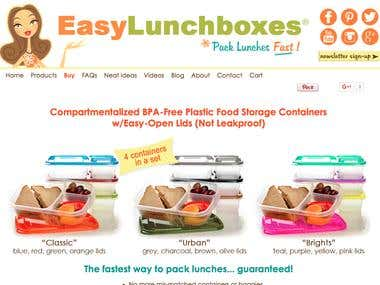 Website for Delivering the Lunch Boxes To Students