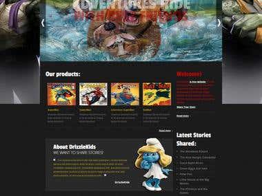 Comics Website (HTML + CSS)