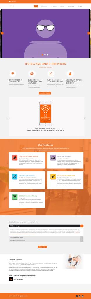 Website on Internet -WIFI