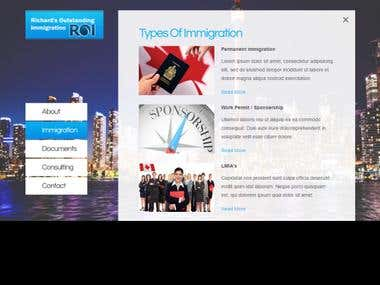 Immigration Website ! (HTML + CSS)