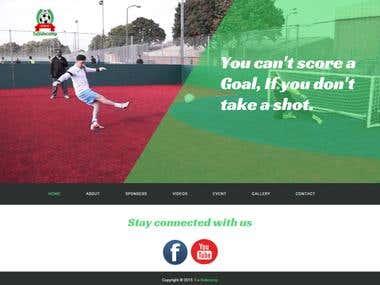 Website on Football Team (HTML + CSS)