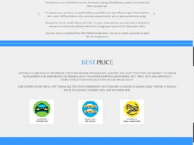 Website on Taxi Services