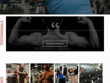 Gym Health Fitness Website