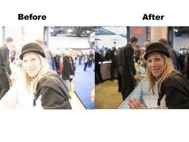 Photo editing and correction.(Edição e correção de fotos.)