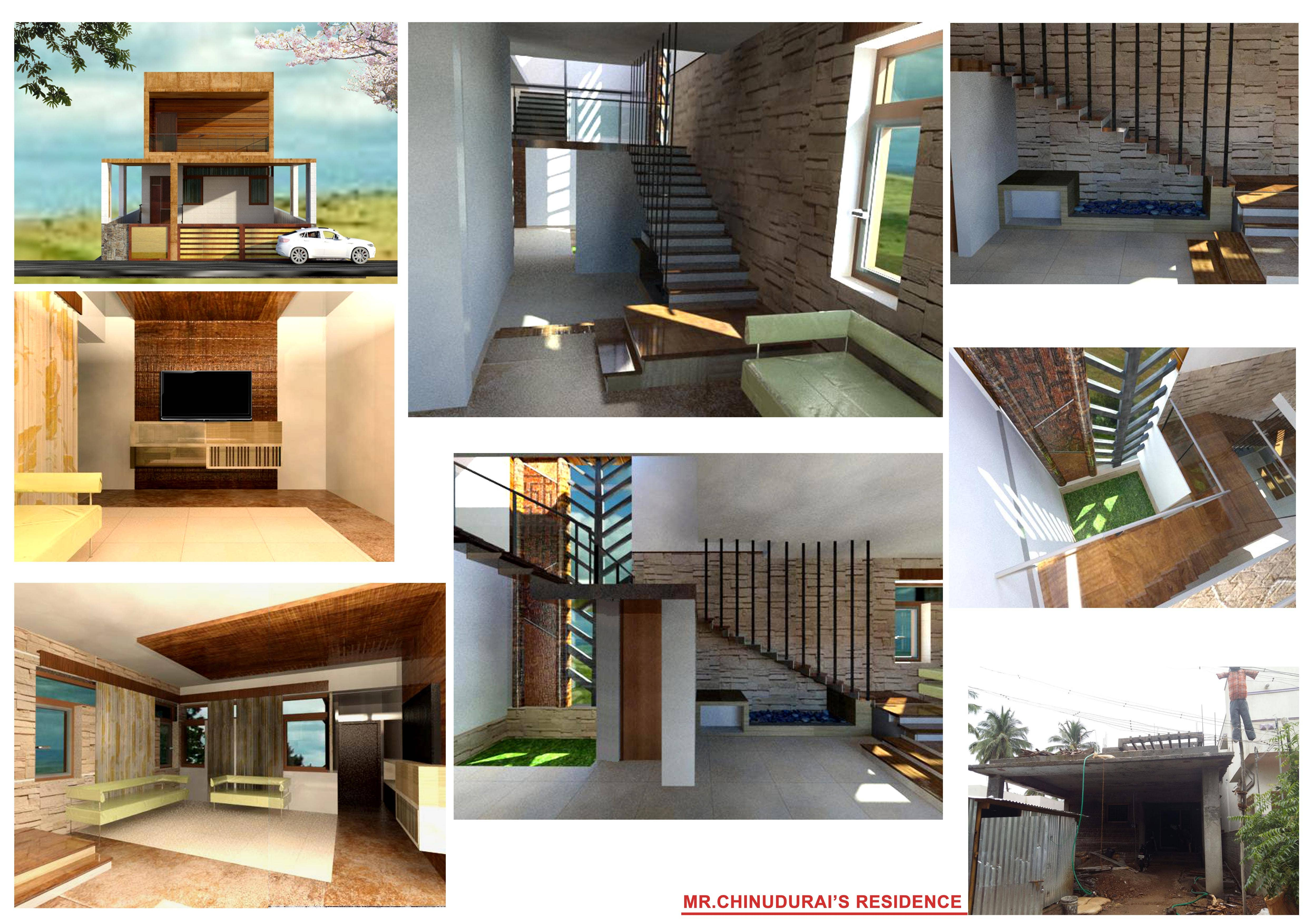 Residence 2BHK - designed ,modelled and rendered