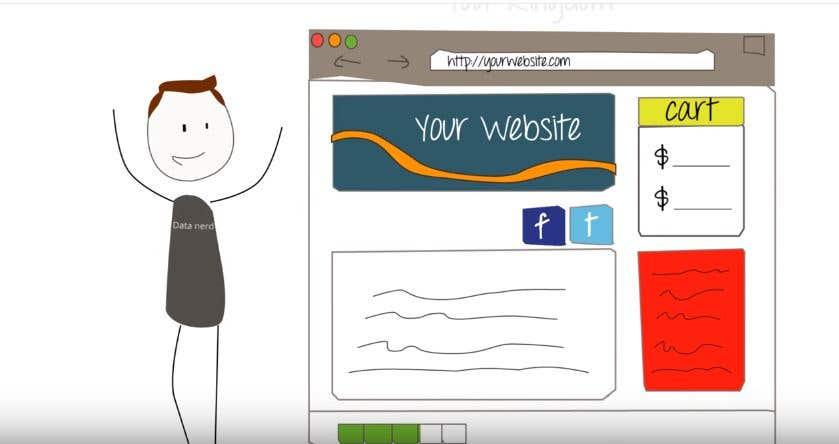 website ad cartoon animation