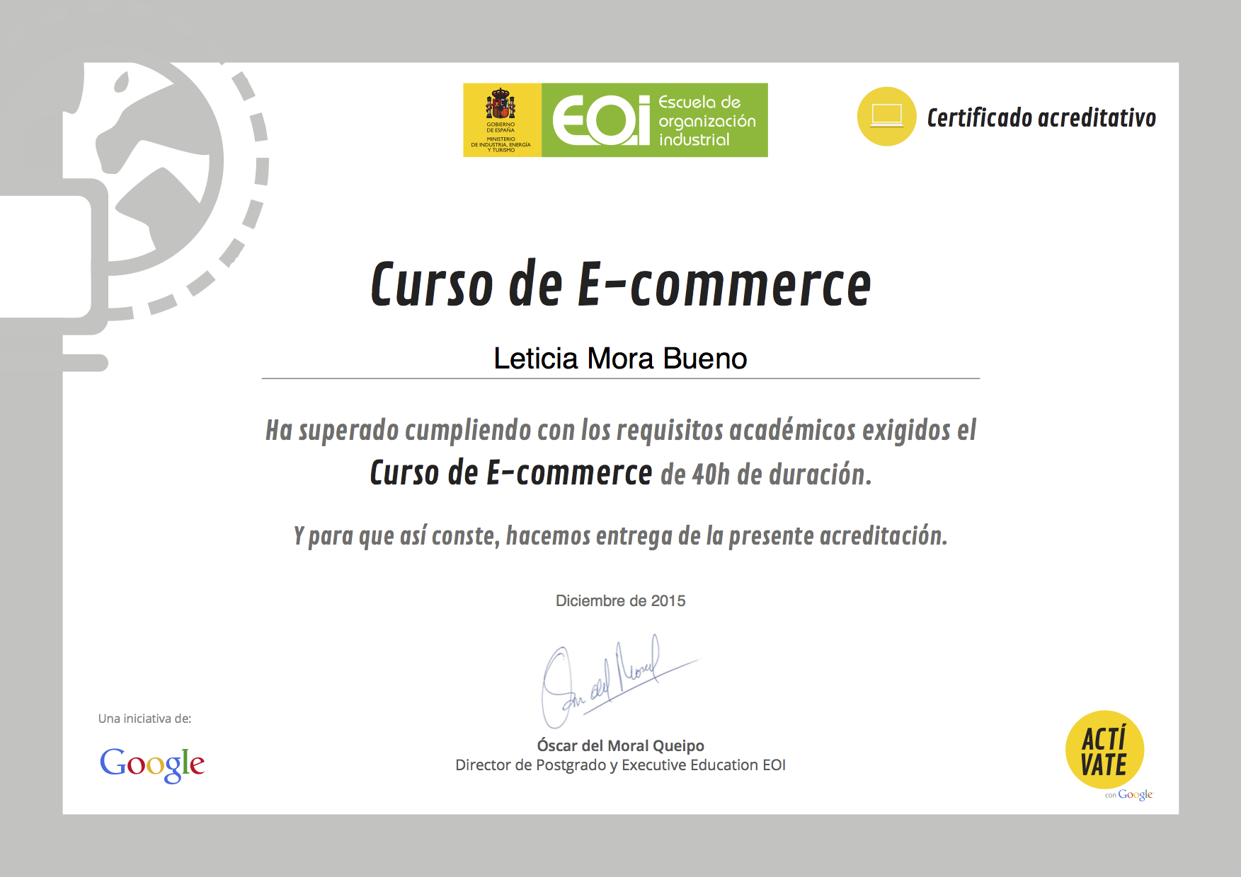Curso de e-commerce EOI