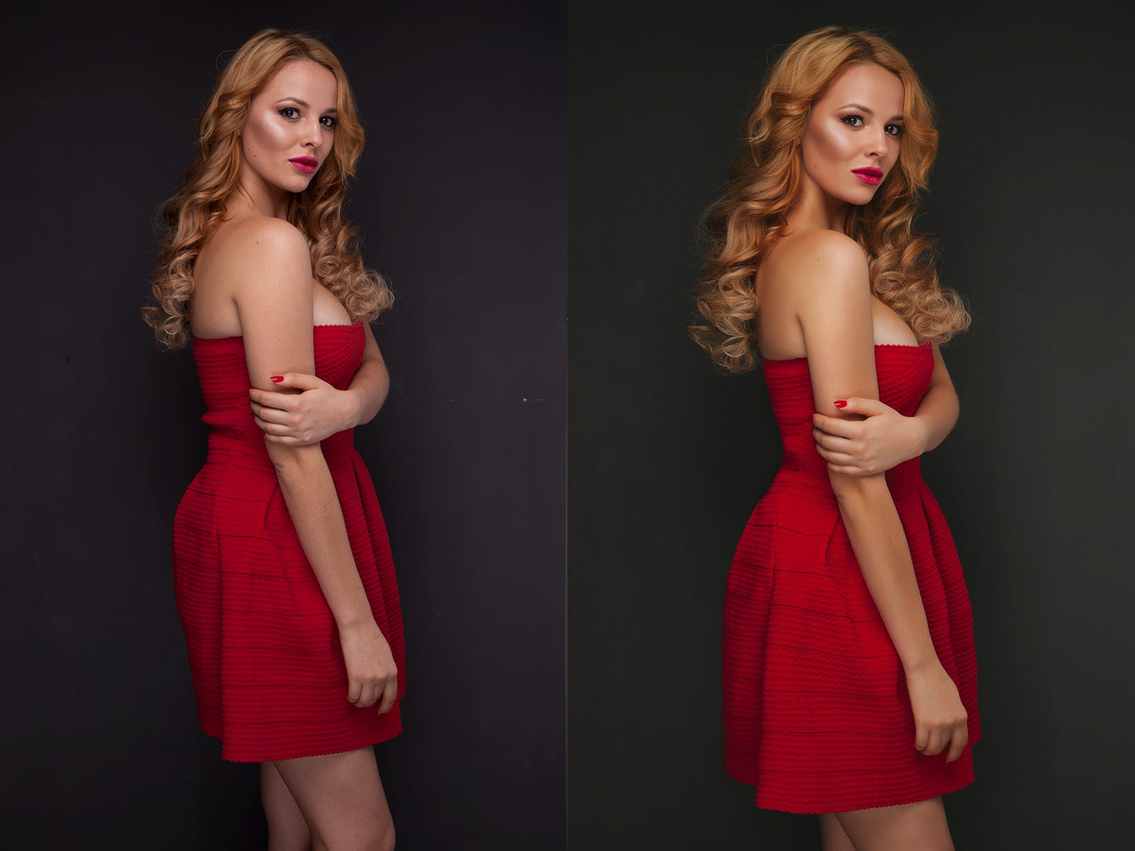 portrait retouch. before and after