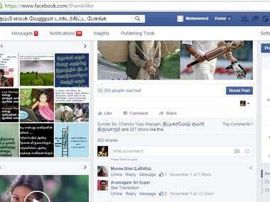 Facebook fanpage Likes