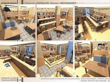 INTERIOR DESIGN CONTEST FOR CLASSICAL AMERICAN RESTAURANT