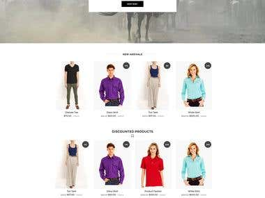 Cloth shopping website