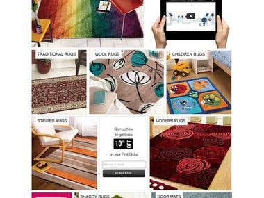 Rugs shop  webstore with Magento