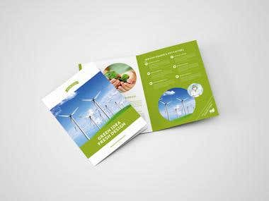 Green Environmental Bifold Brochure
