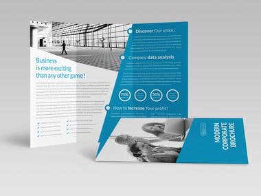 Modern Corporate Trifold Brochure