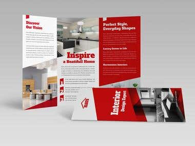 Interior Design Trifold Brochure