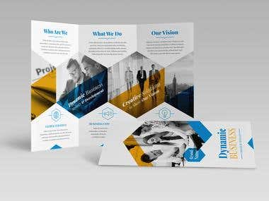 Dynamic Business Trifold Brochure