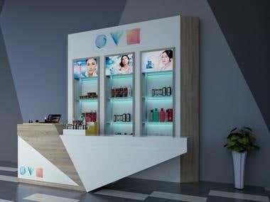 kiosk cosmetic design