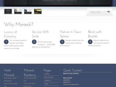 Maneck Hotels Website