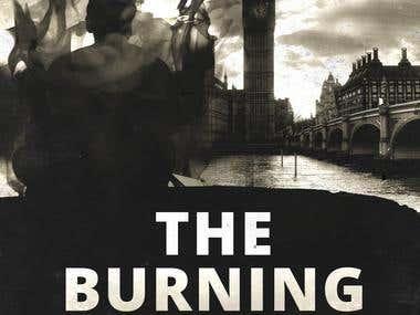 "Cubierta de libro \""THE BURNING MAN\"""
