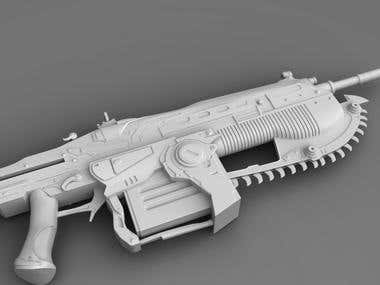 Main weapon of Marcus Gears Of War