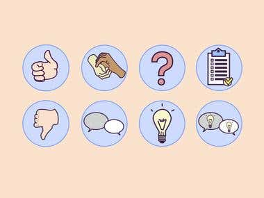 Illustration: E-learning course icons
