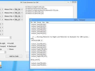 C Code generator for CNC testing