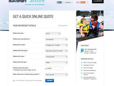 Insurance Quoting Tool - Web Service, JSON, XML