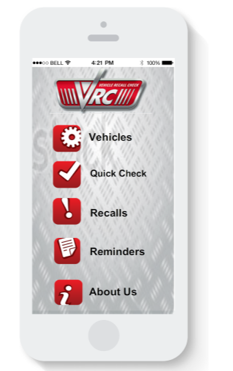 Mobile Application : Vehicle Recall Check (Android/IOS/WiN)