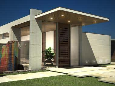 Architectural design, 3d model and rendering