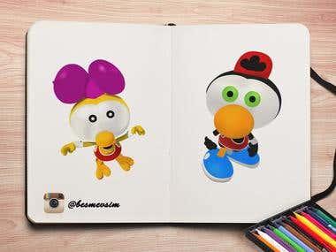 Lemon and Olive cartoon character