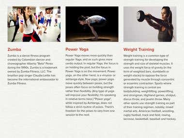 GearUp Fitness - WebSite Development