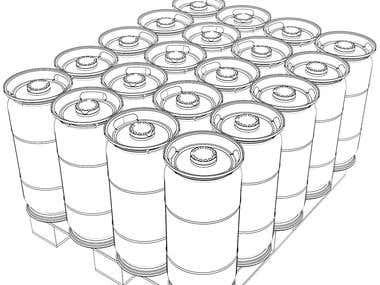3D Technical design of a HDPE Keg