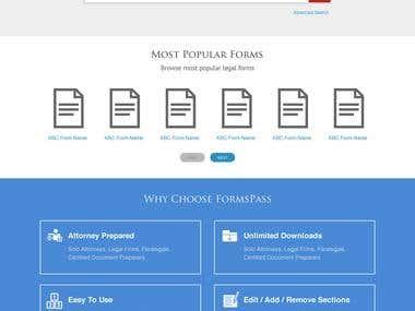 Formpass Landing Page Design
