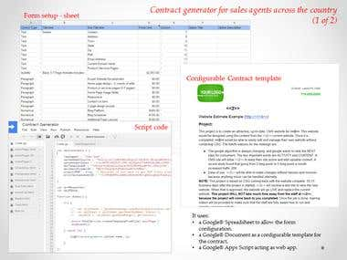 Google Apps Script ( +  Docs + Spreadsheets &  Web App)