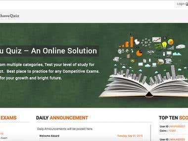 Quiz website developed in codeigniter
