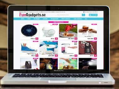 Prestashop Gadgets eCommerce store