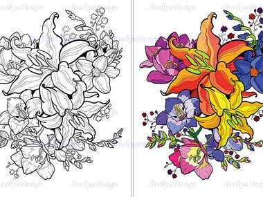 Coloring for adults (illustration 48)