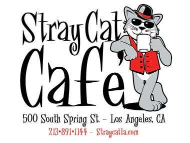 Stray Cat Cafe' Logo / T Shirt