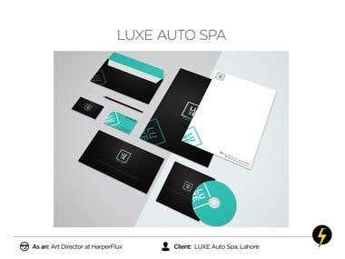 LUXE Auto SPA Brand Identity Design