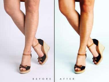 Skin retouch sample
