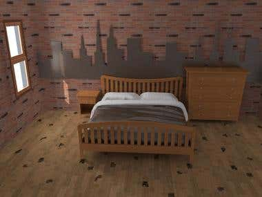 bed and bed side design