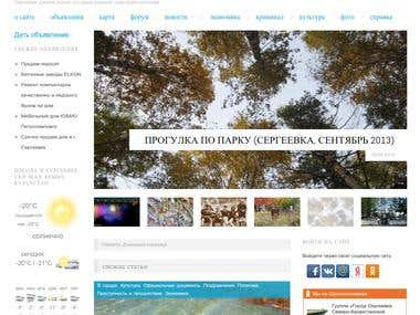 Wordpress site with many custom elements
