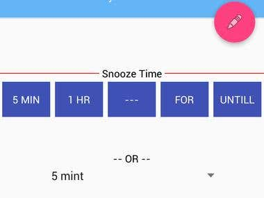 Android material User interface Calendar Snooze